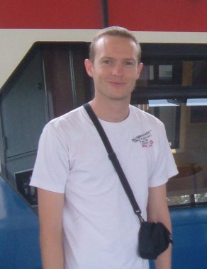 Justin Whitford at a Bangkok rail station
