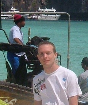 Justin Whitford on Phi Phi Lay island in southern Thailand